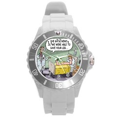 The Good News Is ... Round Plastic Sport Watch Large