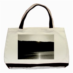 Waterscape, Oslo Twin Sided Black Tote Bag