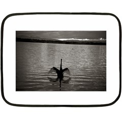 swan, Canberra Twin-sided Mini Fleece Blanket