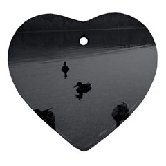 Ducks Heart Ornament (two Sides)