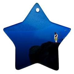 Central Park, New York Twin Sided Ceramic Ornament (star)