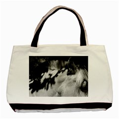 horse Black Tote Bag