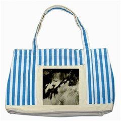 horse Blue Striped Tote Bag