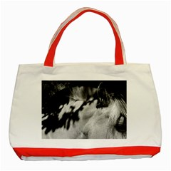 horse Red Tote Bag