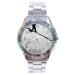 geometric  Stainless Steel Analogue Watch (Round)