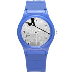 geometric  Round Plastic Sport Watch Small