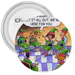 Elf Help Group Large Button (Round)