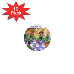 Elf Help Group 10 Pack Mini Magnet (round)