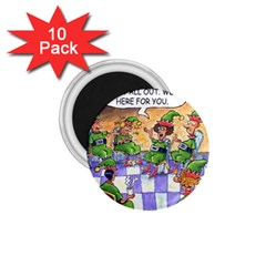 Elf Help Group 10 Pack Small Magnet (Round)
