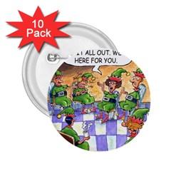 Elf Help Group 10 Pack Regular Button (Round)