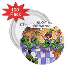 Elf Help Group 100 Pack Regular Button (round)
