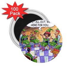 Elf Help Group 100 Pack Regular Magnet (round)