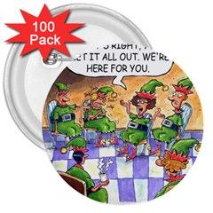 Elf Help Group 100 Pack Large Button (Round)
