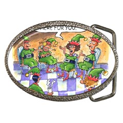 Elf Help Group Belt Buckle (Oval)