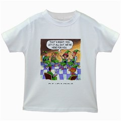 Elf Help Group White Kids'' T-shirt