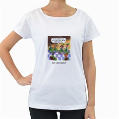 Elf Help Group White Oversized Womens'' T-shirt