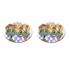 Elf Help Group Oval Cuff Links