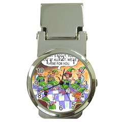 Elf Help Group Chrome Money Clip with Watch