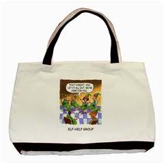 Elf Help Group Twin-sided Black Tote Bag