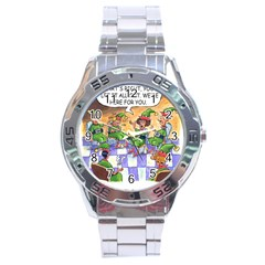 Elf Help Group Stainless Steel Analogue Watch (round)