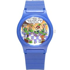 Elf Help Group Round Plastic Sport Watch Small