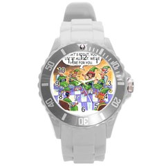 Elf Help Group Round Plastic Sport Watch Large