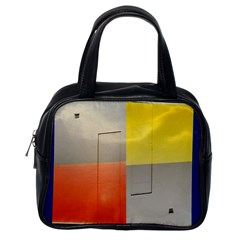 geometry Single-sided Satchel Handbag