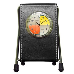 geometry Stationery Holder Clock