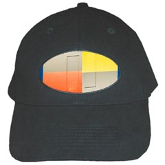 Geometry Black Baseball Cap