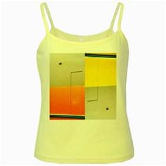 geometry Yellow Spaghetti Top