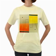geometry Yellow Womens  T-shirt