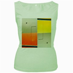 geometry Green Womens  T-shirt