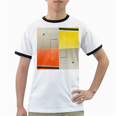 Geometry White Ringer Mens'' T Shirt