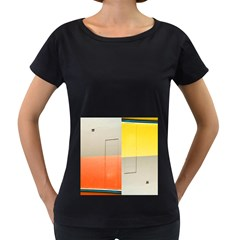 geometry Black Oversized Womens'' T-shirt