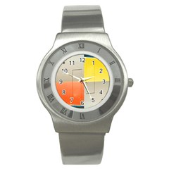 geometry Stainless Steel Watch (Round)