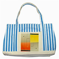 geometry Blue Striped Tote Bag