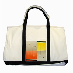 Geometry Two Toned Tote Bag