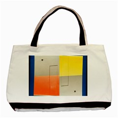 Geometry Twin Sided Black Tote Bag
