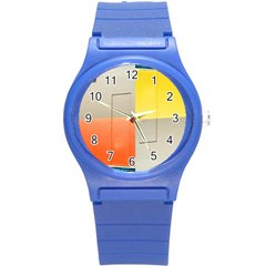 geometry Round Plastic Sport Watch Small