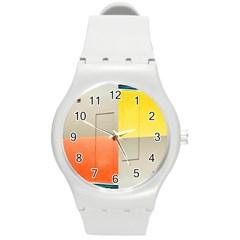 geometry Round Plastic Sport Watch Medium
