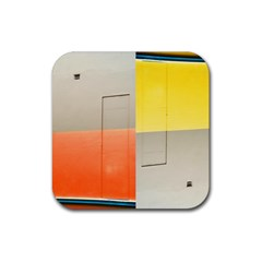 geometry Rubber Drinks Coaster (Square)
