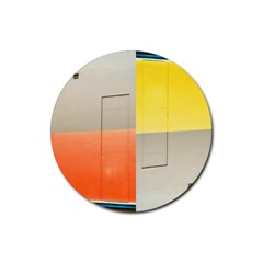 geometry 4 Pack Rubber Drinks Coaster (Round)
