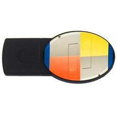 Geometry 2gb Usb Flash Drive (oval)