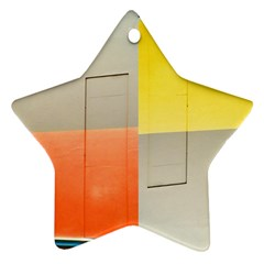 geometry Twin-sided Ceramic Ornament (Star)