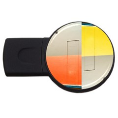 Geometry 2gb Usb Flash Drive (round)