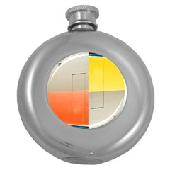geometry Hip Flask (Round)