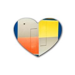 Geometry Rubber Drinks Coaster (heart)