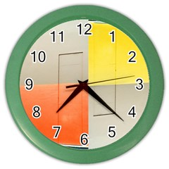 geometry Colored Wall Clock