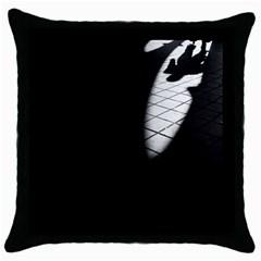 shadows Black Throw Pillow Case