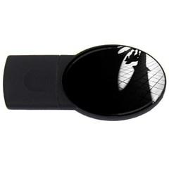 Shadows 2gb Usb Flash Drive (oval)